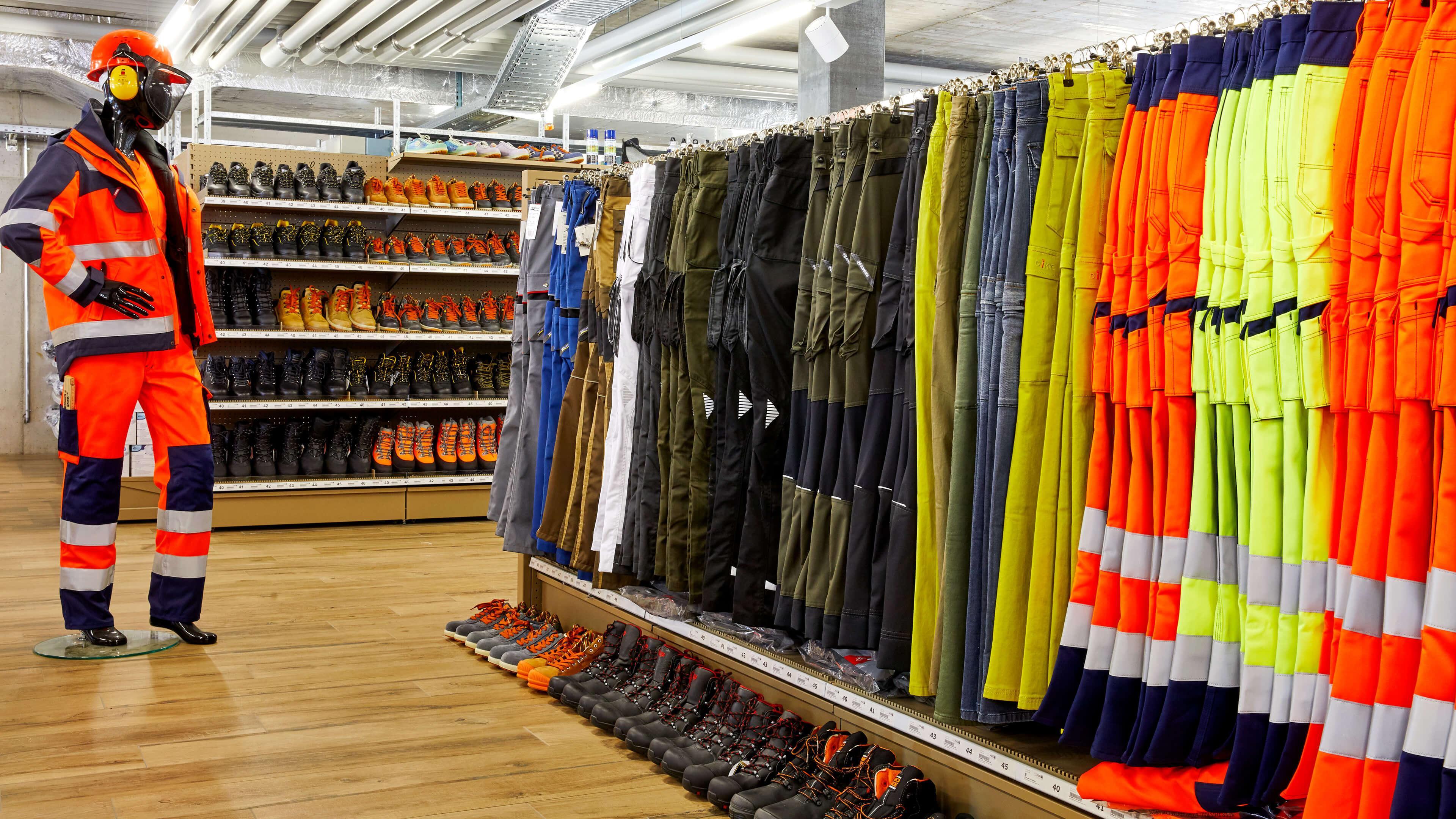 Sicherheitsbekleidung, Arbeitsbekleidung, Werkzeug und Arbeitsschutz, Beratung und Ausstellung in den Handwerkershops Hinwil, Nänikon und Bülach
